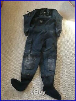 Diving concepts drysuit 411-54 160-190lbs si tech scuba