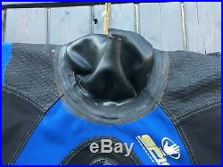 Dry Suit Scuba Membrane Bodyglove Epic 2000 Apeks Valves Size 10/11 feet