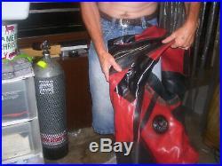 Gates Pro-am 1050 Comercial Heavy Duity Scuba Diving Rubber Drysuit Sz XXL