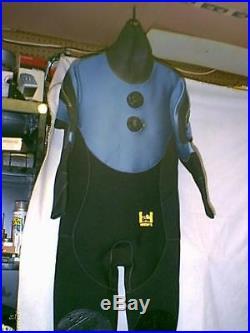 Harveys Neoprene Rubber Scuba Diving Drysuit Men Large