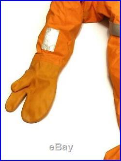 Heavy rubber Russian rescue suit. Military rubber drysuit. Scuba suit