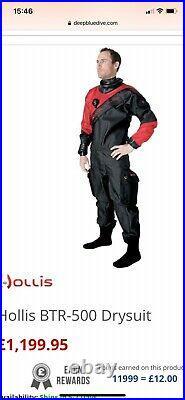 Hollis scuba diving drysuit brand new unworn unused