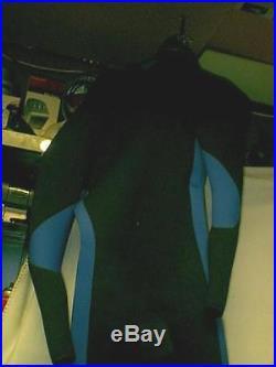 Hooded SEMI DRYSUIT Wetsuit Scuba Dive Surf Swim SIZE SM/MD NEOPRENE RUBBER WARM