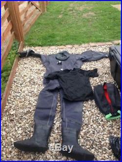 Job Lot Scuba Dive Diving Equipment Dry Suits BCD Jacket Regs Snorkel New Used