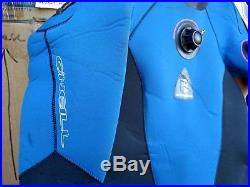 MINT COND! O'NEILL 7mm 7000X SCUBA Drysuit Women Sz 10 or 12 fits Men's Small