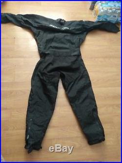 MOBBY'S DUI Trilam PRO Scuba Diving large Drysuit SEE DESCRIPTION FOR CONDITION
