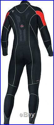 Mares Mens Flexa 5,4,3 mm Scuba Diving Full Length Semi-Dry Wet-suit CLEARANCE