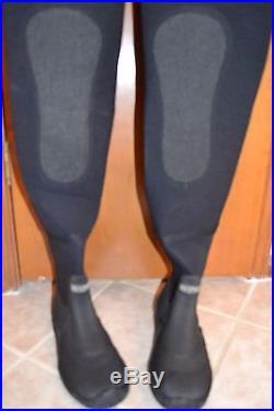 Mens Bare Diving Drysuit Dry Suit D6, Size XL Scuba Diving Neoprene Black