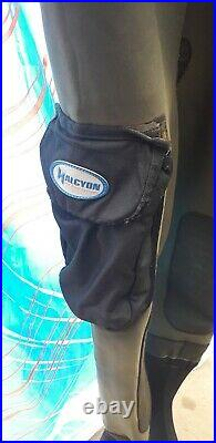 Mens Dui Cave Diving Drysuit consitina body scuba dry gloves leg pockets