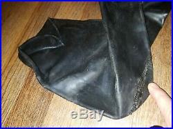 Mens XL OS Systems Dry Suit Drysuit Rear Entry Diving SCUBA Gray Black