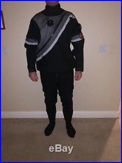 Mens large DUI 50/50 Flex drysuit, thermal & sz 11 Rock Boots, perfect! Scuba