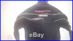 Mens large northern diver crushed neoprene drysuit for scuba diving