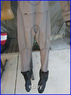 Military SCUBA Aqua Lung Fusion One Tac Swimmer Tactical Drysuit, L/XL