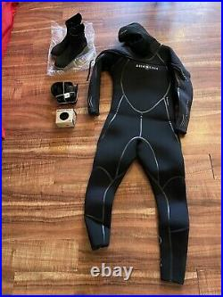 NEW Aqua Lung 8/7MM MENS SOLAFLX SUIT-HYDROSTEAL BOOT 9 BRAND NEW