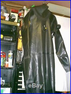 NWT Viking Protech Black Rubber SCUBA Diving DRYSUIT SIZE 03 SEE LISTING