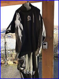 Northern Diver Aquarious Dry Suit M For Scuba Diving, Kayaking Etc, sz See Below