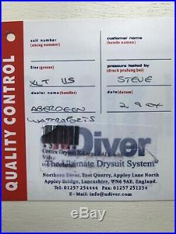 Northern Diver Cortex Scuba Diving Drysuit XL Tall