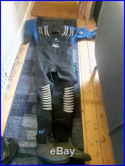 Northern Diver Dry Suit. Scuba diving suit Size Ladies large Long Carrybag Incl