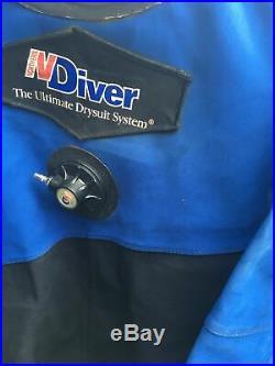 Northern Diver Dry Suit. Scuba diving suit Size Medium Long Carrybag Incl