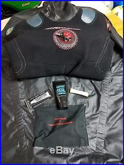 Northern Diver Scuba Diving Dive Master Drysuit (Medium withsize 10 boots)