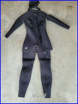 O'Neill Dry Suit Wet Suit Scuba Diving Wetsuit Mens Size 6 Head Cover style 2388
