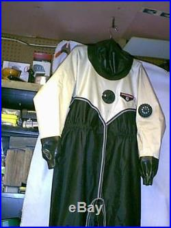 O. S. Systems Drysuit SIZE LARGE SCUBA DIVING RUBBER SEALES