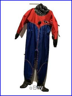 O. S. Systems Medium Fullbody Dry Suit Cold Water Scuba Diving with BCD
