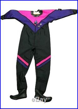O. S. Systems Small/Med Dry Suit for Cold Water Scuba Diving Boot Size 8 Divesuit