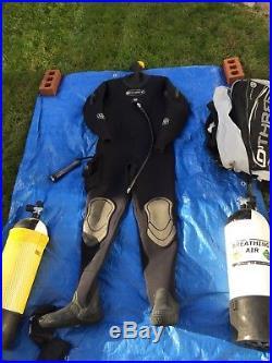 O Three Drysuit, Scuba Diving Equipment, Regulators