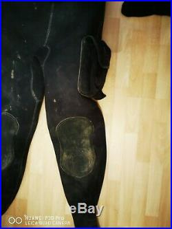 O'Three Neoprene Scuba Diving Dry Suit XL Size 9/10 Boots port 10