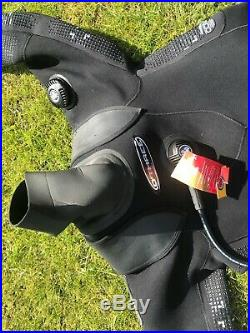O'Three RI 2-100 Scuba Diving Dry Suit Mens Size Large-long size 10-11 boot