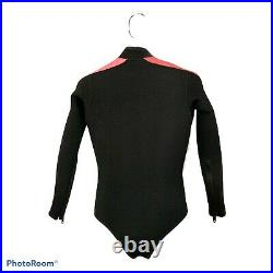 Ocean Dynamics 2 Piece Scuba Dry suit Black/Pink With Red Lining Sz Small