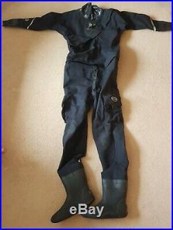 Oceanic Aerdura Front Entry Drysuit With New Seals Scuba