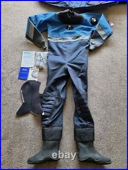 Oceanic Aerdura Ti Titanium Drysuit Size ML Apeks Valves, Scuba Diving