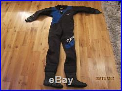 Oceanic M/L Mens Scuba Diving Dry Suit Full length with Boots