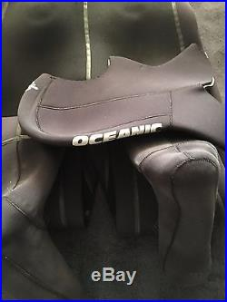 Oceanic Pioneer scuba diving drysuit size L with socks size XL with Oceanic hood