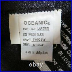 Oceanic Shadow Titanium Wet Suit Semi-Dry Suit 5mm Scuba Diving Men's Large