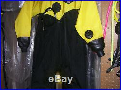 Os Systems Drysuit Unisex Small Scuba Diving New Latex Rubber Seals & Socks