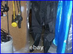 Os Systems Scuba Diving Drysuit All New Latex Rubber Seals & Socks Unisex Medium