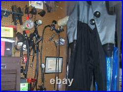 Os Systems Scuba Diving Drysuit All New Latex Rubber Seals & Socks Unisex Xlarge