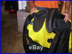 Os Systems Scuba Diving Drysuit Rubber Seals Front Entry & Insulation Sz Medium