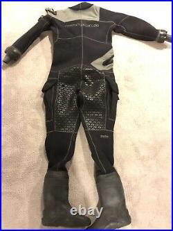 Pinnacle Black Ice Drysuit/Scuba Diving Dry Suit Men's Size M/L
