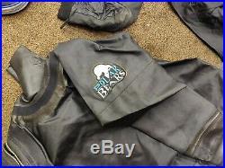 Polar bear dry suit and polar bear inner scuba equipment. Diving