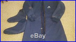Polar bear dry suit, fleece inner suit & boots & hood scuba diving equipment L