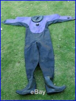 Protec Alpha Scuba Drysuit VGC Size Ladies M Boots 7 Latex Seals