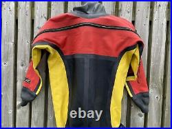 ROHO Commercial Tri-laminate Scuba Drysuit Size 9 Boot 2 Years Old
