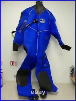 (Ref288) Otter Watersports Ultimate 4506 Drysuit Large SCUBA Diving with bag