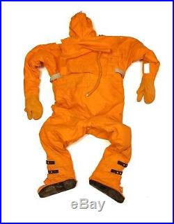 Rubberized rescuing 1 piece suit with inflatable rear pillow. Scuba diving