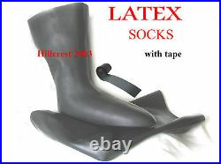 SCUBA DIVING DRY SUIT 3D LATEX SOCKS (XLARGE shoe 11+) WITH TAPE