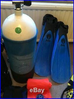 SCUBA DIVING GEAR EQUIPMENT BUNDLE Drysuit Wetsuit regulator BCD tank